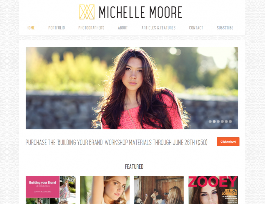 Brand New Michelle Moore Wbesite